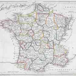 Map Of France Gascony.864 Gascony France 1595 Circle 7 Framing