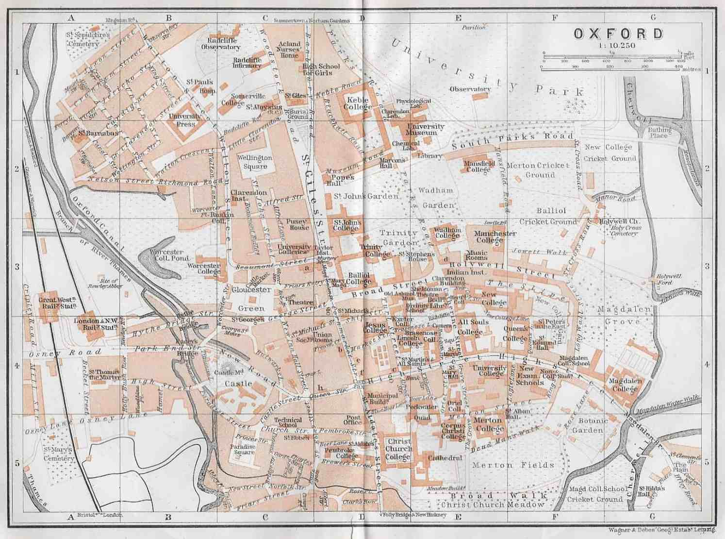 Map Of England 400 Ad.2432 Oxford England 1910 Circle 7 Framing