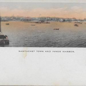#3773 Nantucket Town & Inner Harbor, circa 1910s