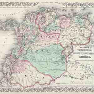 #3948 Venezuela, Columbia & Ecuador, 1874