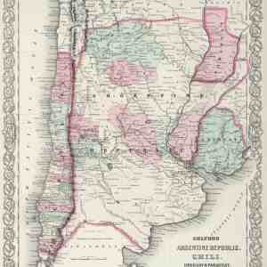 #3951 Argentina, Chile, Uruguay & Paraguay, 1874