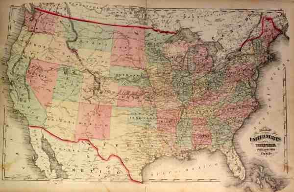 antique map united states
