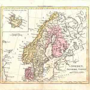 #352 Sweden, Denmark, Norway & Finland, 1798