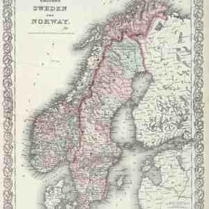 #3963 Sweden & Norway, 1874