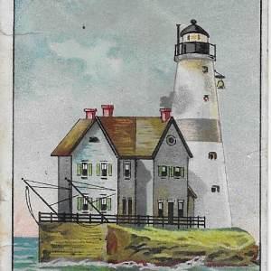 #4045 Execution Rocks Lighthouse tobacco card, 1911