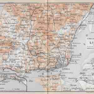 #3411 Lisbon Portugal (surroundings), 1914