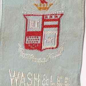 #3608 Washington & Lee University tobacco silk, 1910