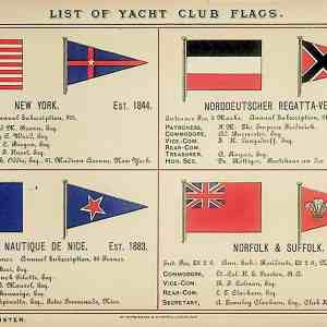 #5319 Yacht Flags (including New York Yacht Club), 1895/6