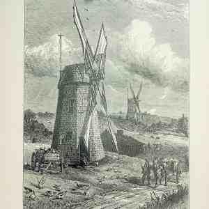 #5178 Grist Windmills at East Hampton, 1874