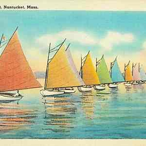 #5363 Rainbow Fleet, Nantucket Island, 1940s