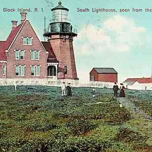 #5555 South Lighthouse, Block Island, 1909