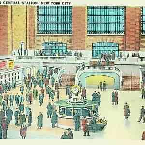 #5581 Grand Central Railroad Station, Interior ca1940s