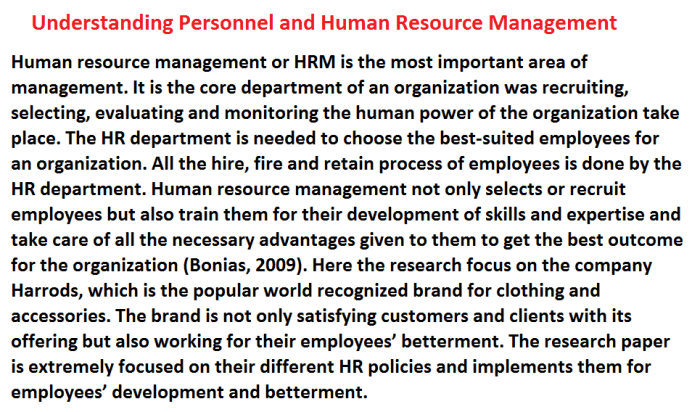 Understanding Personnel and Human Resource Management