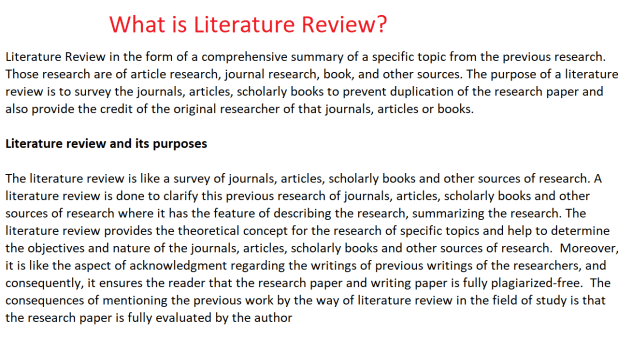What is Literature Review