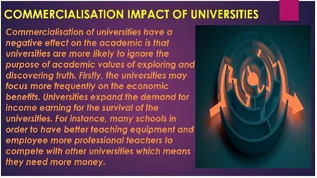Commercialisation Impact of Universities