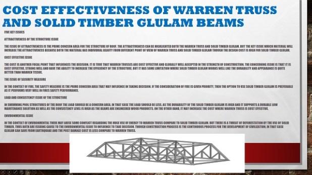 Cost Effectiveness of Warren Truss