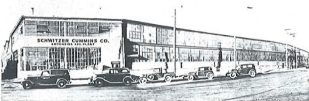 The Schwitzer Plant (now known as the Circle City Industrial Complex), pictured in the 1930s.