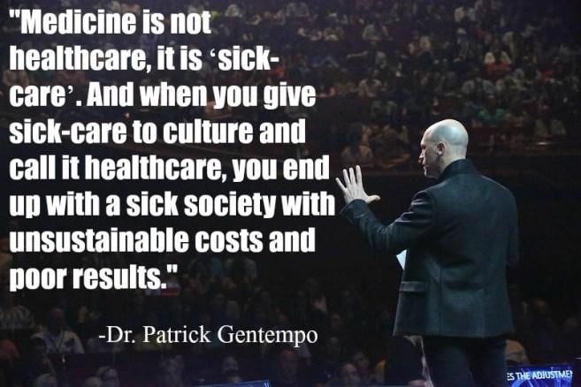Healthcare vs Sickcare