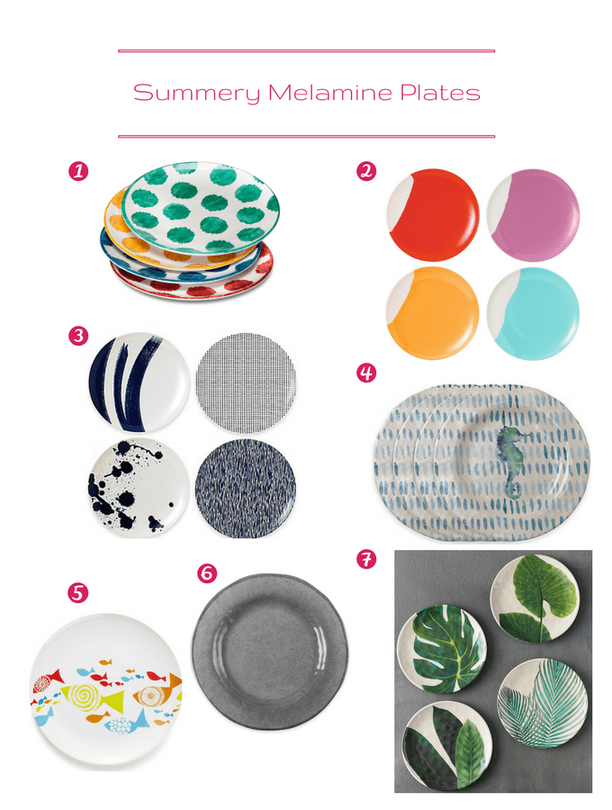 Setting a Vibrant Summer Table: Melamine Plate Options | circleofeaters.com