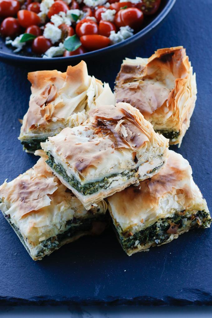 Spinach and Feta Filo Pie | circleofeaters.com