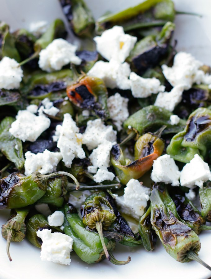 Padrón Peppers with Feta