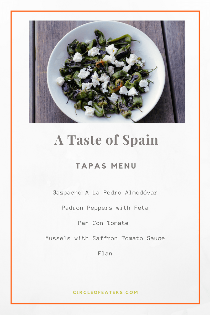 Taste of Spain Menu - a simple summer menu for a great Spanish tapas gathering. | circleofeaters.com