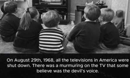 On August 29, 1968, did all the TVs shut down?