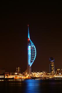 Spinnaker Tower on World Diabetes Day