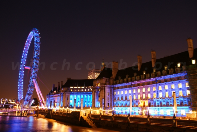 London Eye and County Hall 1