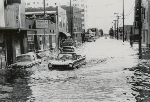 Amphicar in Fairbanks Flood