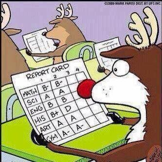 Rudolph's Report Card