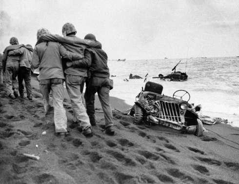 US Marines on Iwo Jima