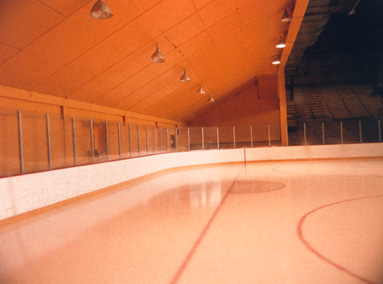 Sloped ceiling at Mariucci