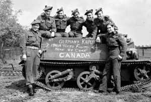 Canadian infantrymen May 1945