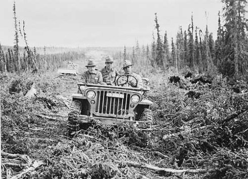 Army Jeep on the AlCan