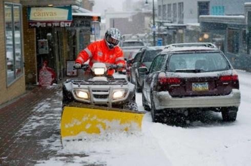 Juneau gets snow