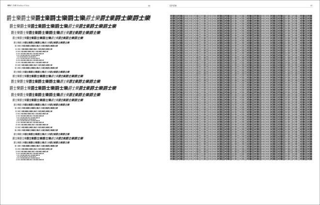 編排的通則,以漢字作視覺實驗
