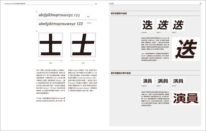 歐文與漢字的差異字型