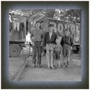 Desde izquierda: Luis, Carlos, Eduardo y Francis Raluy