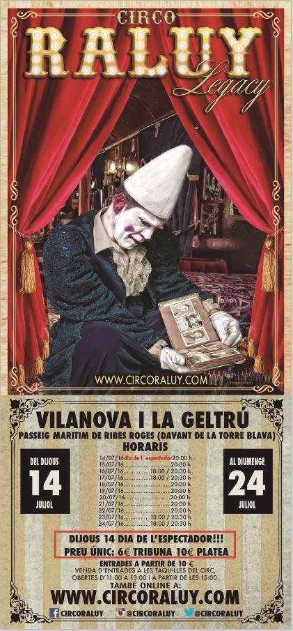 Circo Raluy cartel Vilanova i la Geltrú 2016