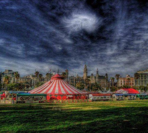 Pintura del Circo Raluy en Barcelona
