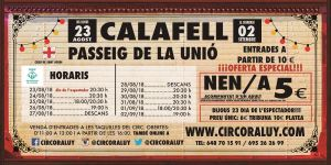 Circo Raluy Calafell 2018 Gira