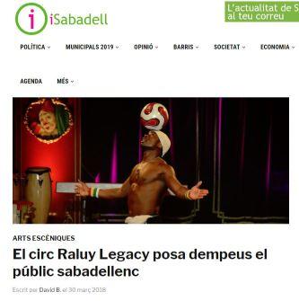2018-03-30. iSabadell. El circ Raluy Legacy posa dempeus el públic sabadellenc