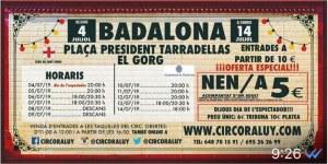 Badalona 2019. Circo Raluy