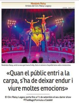 2019-08-22. Diari Mes Calafell. Entrevista a Niedziela Raluy