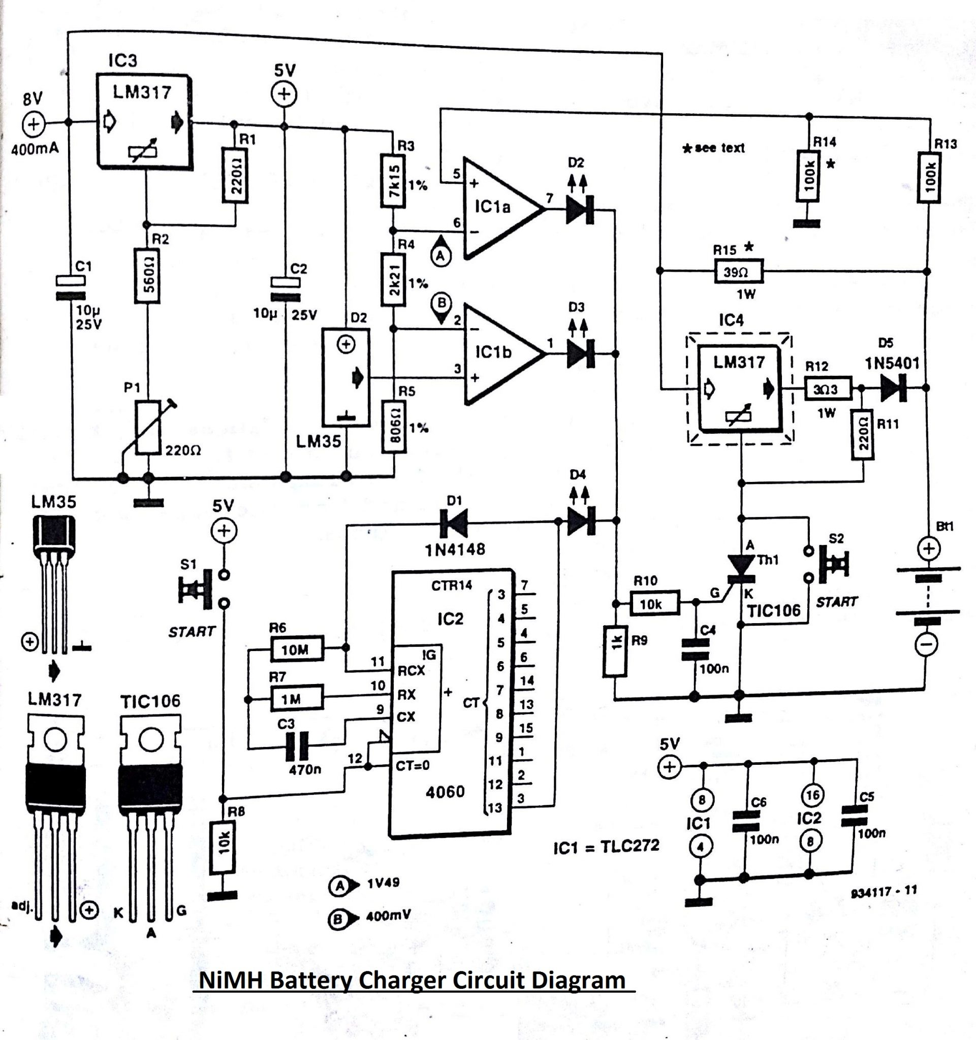Nimh Charger Schematic