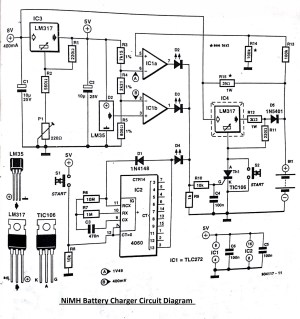 NiMH Battery Charger Circuit Diagram
