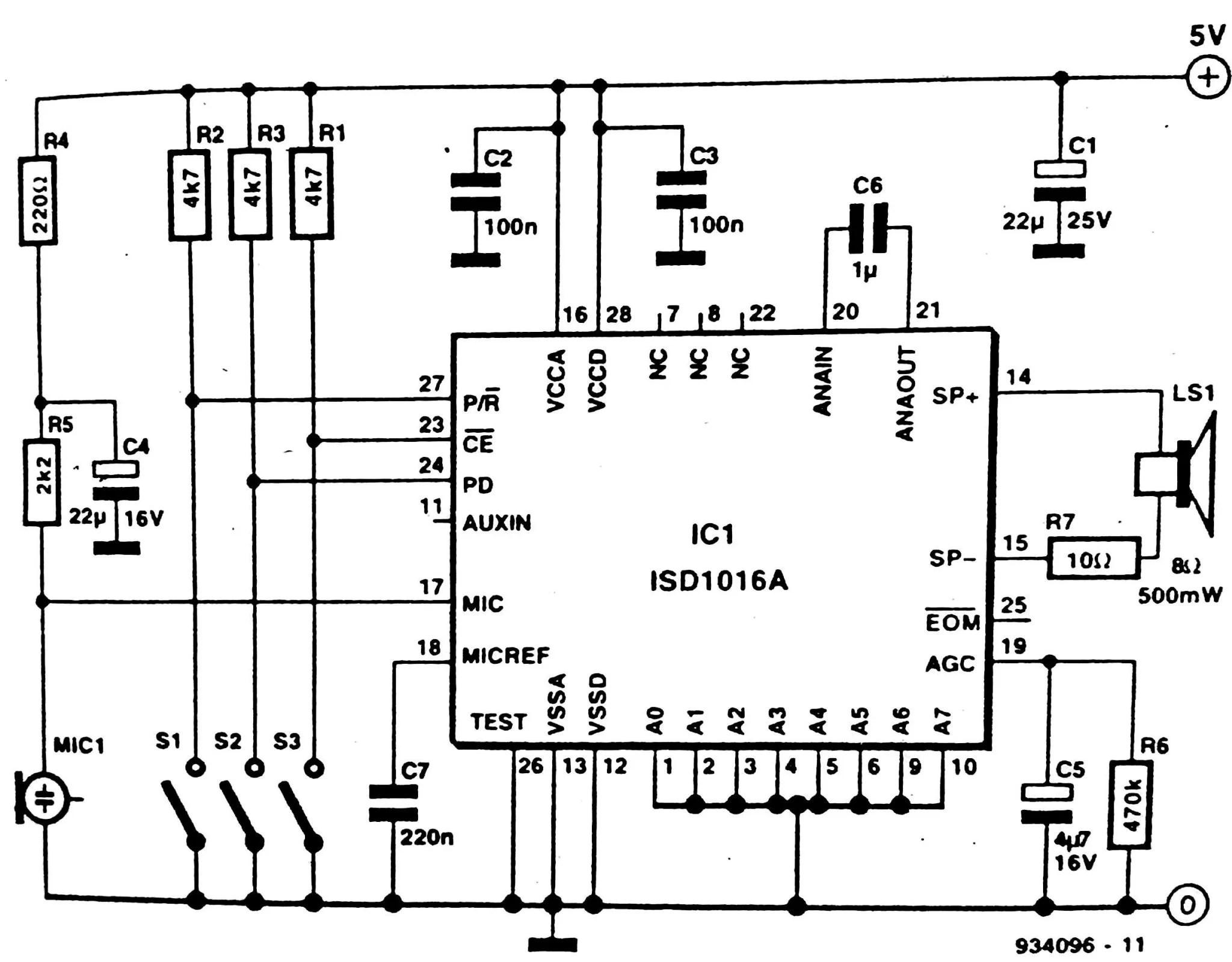Basic Audio Amplifier Circuit Diagram