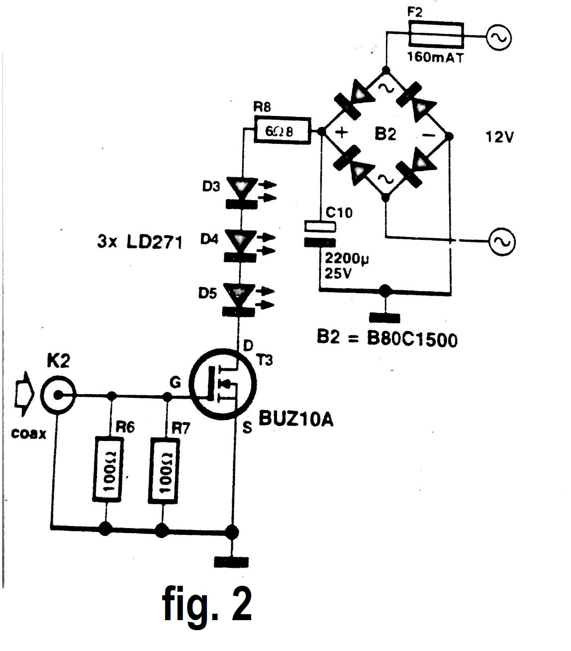 Infrared Signal Repeater Circuit Diagram