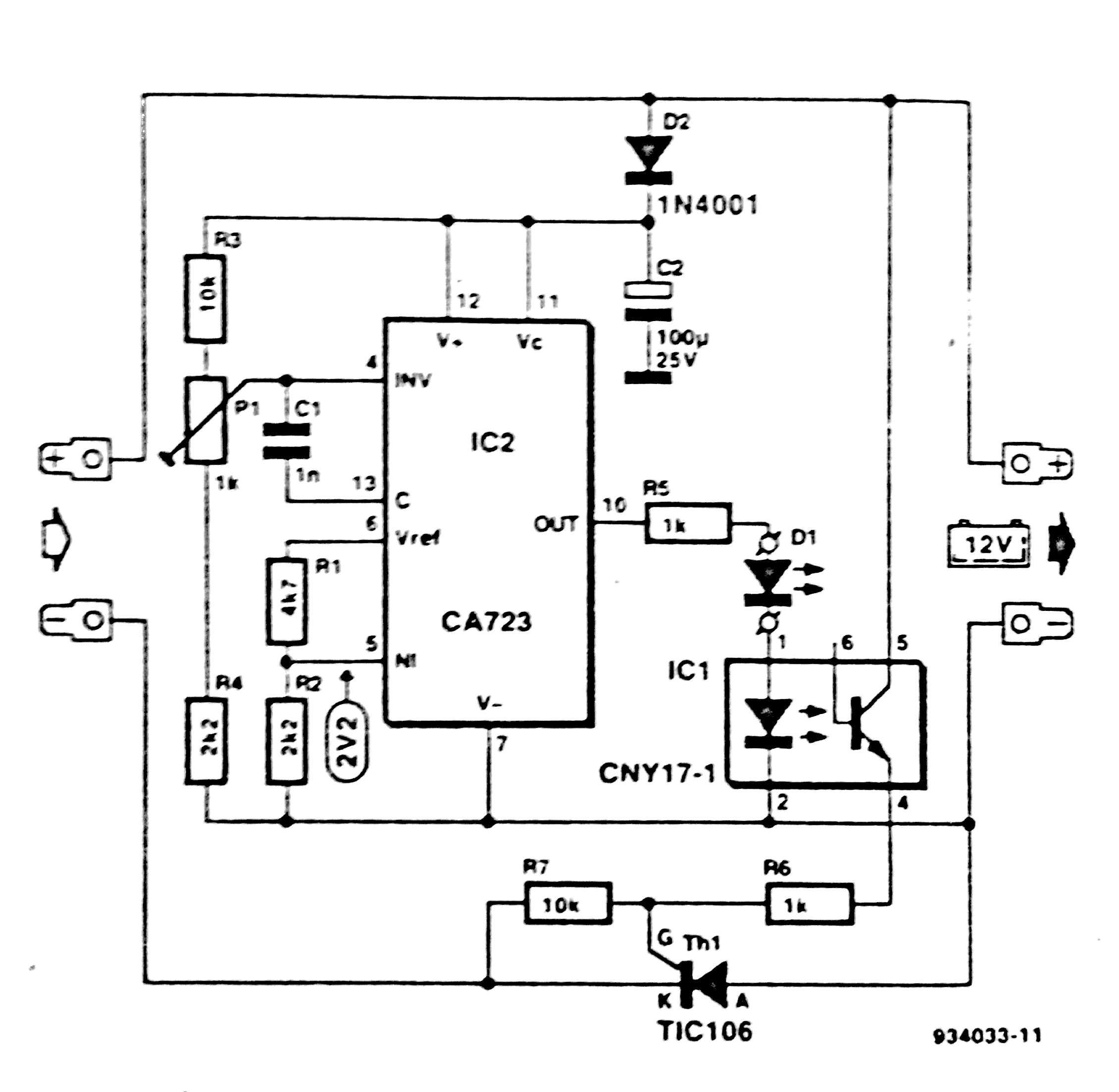 Lead Acid Battery Condition Checker Circuit Diagram
